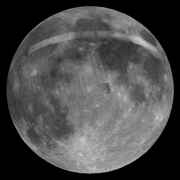 На видимой стороне Луны сравнительно не много белых кратеров с лучами