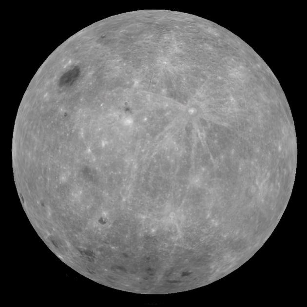 На обратной стороне Луны сравнительно большее количество кратеров с лучами