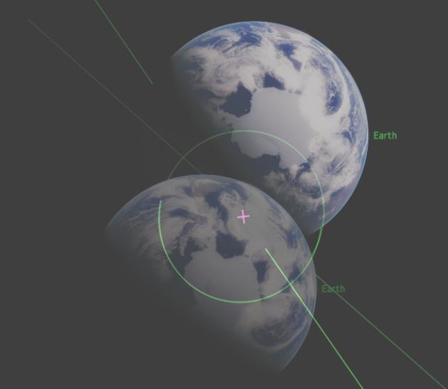 Визуальное смещение Земли при движении